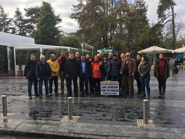 TMMOB, ALEV ŞAHİN'E DESTEK AÇIKLAMASINDA BULUNDU