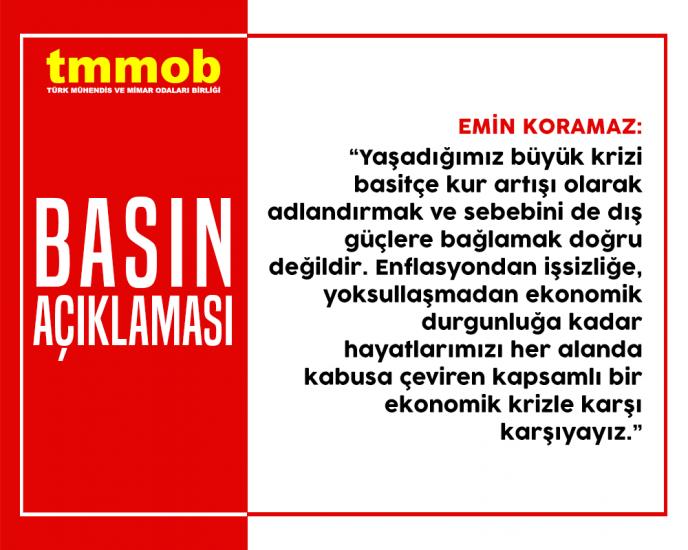KRİZİN SORUMLUSU AKP'NİN YANLIŞ EKONOMİ POLİTİKALARIDIR!